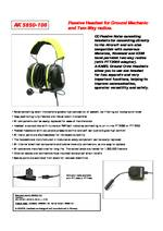 A-KABEL Passive Ground Crew Headset PDF