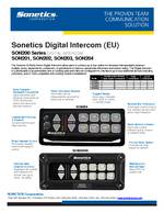 Sonetics Digital Intercom Spec Sheet PDF
