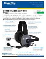 Sonetics Apex APX230E Spec Sheet PDF