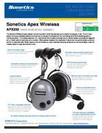 Sonetics Apex APX235E Spec Sheet PDF