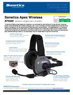 Sonetics Apex APX250E Spec Sheet PDF