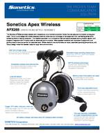 Sonetics Apex APX255E Spec Sheet PDF