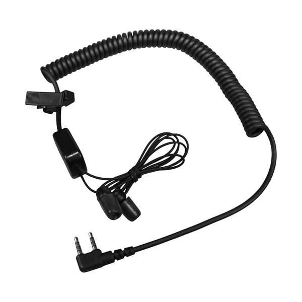 Microbud In-Ear Mic/Audio Headset, with Quick Disconnect for RadiAll