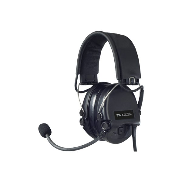 SWATCOM CC Supreme Neckband Headset with Mic, Black Cups